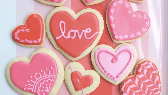 Valentine's Sugar Cookies.