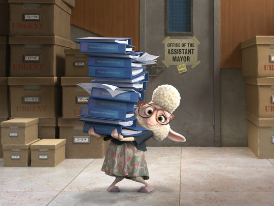 Jenny Slate voices Assistant Mayor Bellwether, a sweet