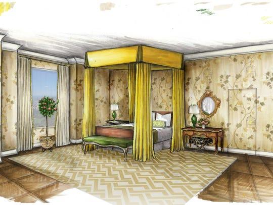 Contestants had to design the entire 6,000 square foot