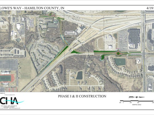 Hamilton County and Carmel plan to convert the ramp connecting Keystone Parkway and 146th Street to use both northbound and southbound traffic. (Provided by Hamilton County Highway Department)