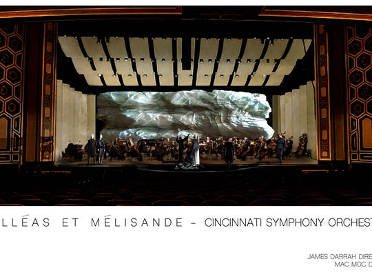 """A rendering of projections for the CSO's performance of """"Pelleas and Melisande."""""""