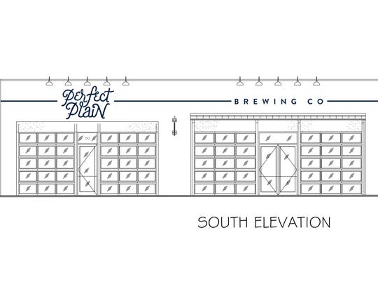 A rendering of the forthcoming Perfect Plain Brewing Co. at 50 E. Garden St.
