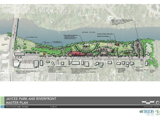 A master plan for Grand Ledge's Jaycee Park includes