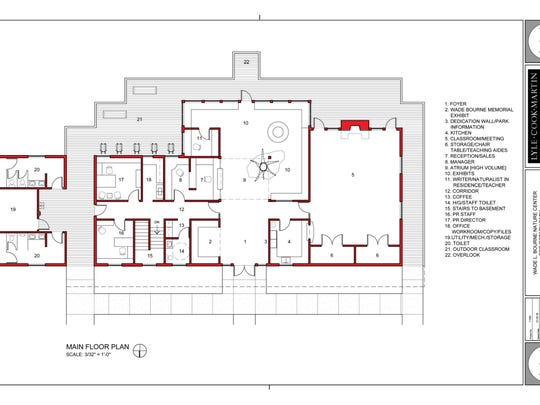 Floor plan for nature center.