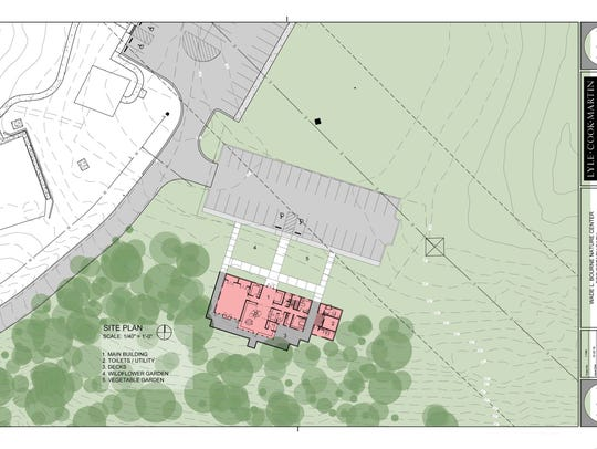 Site plan for nature center.