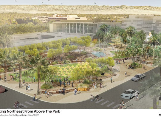 Palm Springs Downtown Park concept by RCH Studios.