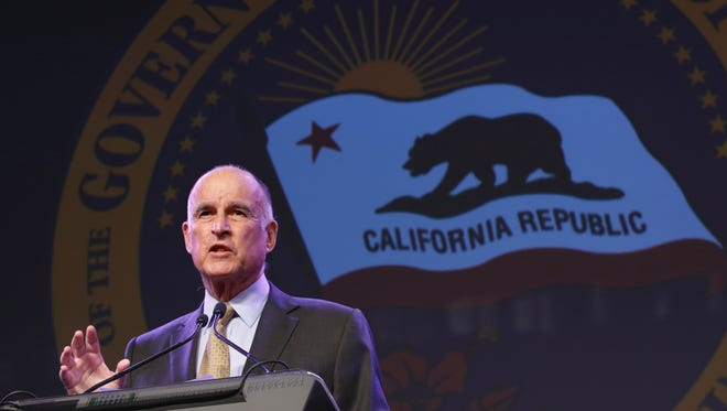 This May 18, 2016 file photo shows California Gov. Jerry Brown during a community event in Sacramento, Calif.