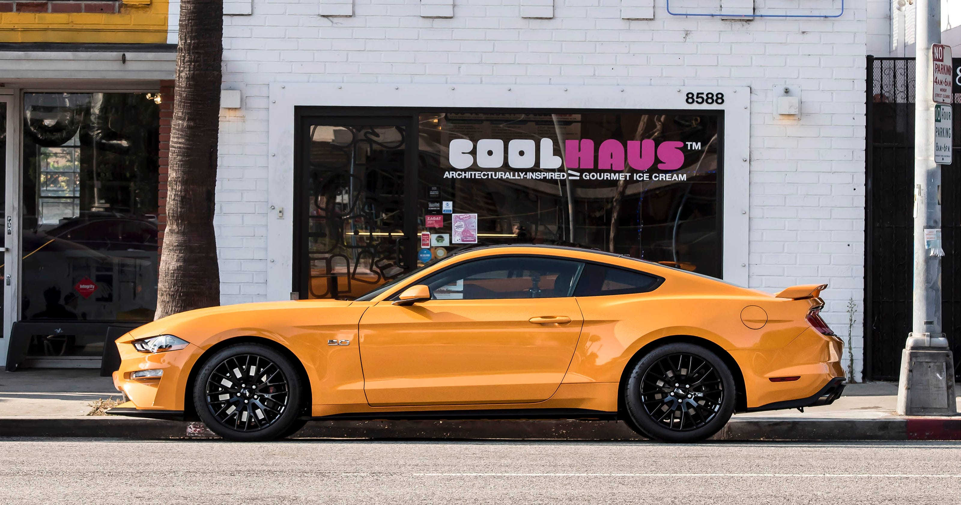 Ford mustang coolhaus new orange fury ice cream sandwiches