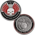 """Mil-Mall Challenge Coin """"Death Before Dishonor"""""""