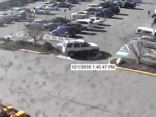 Security footage of the vehicle police say the suspect