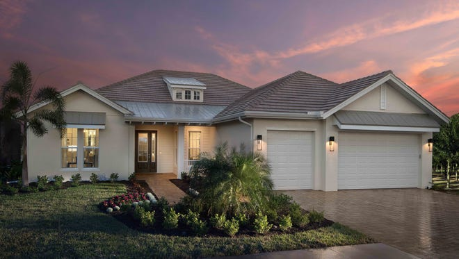 The Plantation II model by Stock Classic Homes in Sparrow Cay at Naples Reserve.