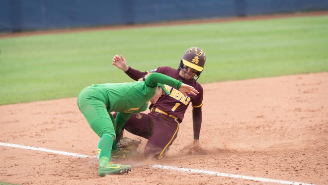 ASU faces Oregon during the Women's College World Series on Thursday.