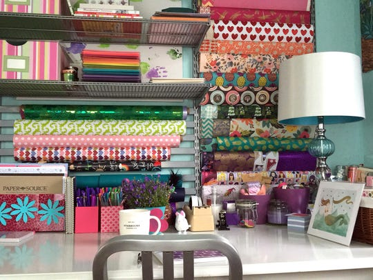 A well-organized home workstation helps fuel Suzanna