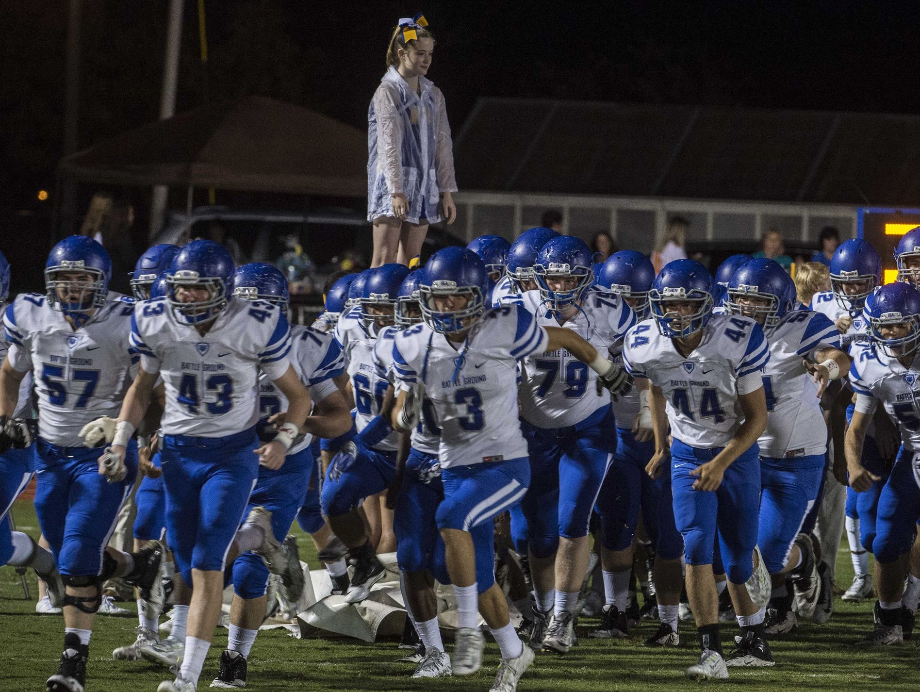 BGA takes the field prior to its Week 6 win over Page.