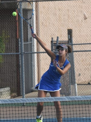 Mountain Home's Emily Heide won her second consecutive conference championship on Tuesday at Searcy.