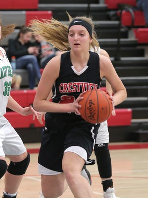Crestview's Kenedi Goon steps into the starting lineup after earning Honorable Mention All-District 6 and Firelands Conference as a freshman last year.