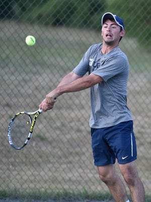 Mason Dragos, former state champion for Lexington and now No. 1 player for Butler University, goes for his sixth straight men's singles title in Monday's 6 p.m. finals of the 85th News Journal/Richland Bank Tennis Tournament at Lakewood Racquet Club.