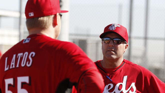 Reds manager Bryan Price says he wants Mat Latos to be capable of throwing 100 or 100-plus pitches when he returns to the team.