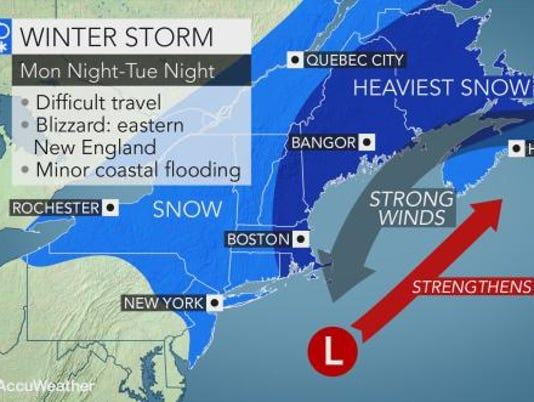 Monday storm forecast