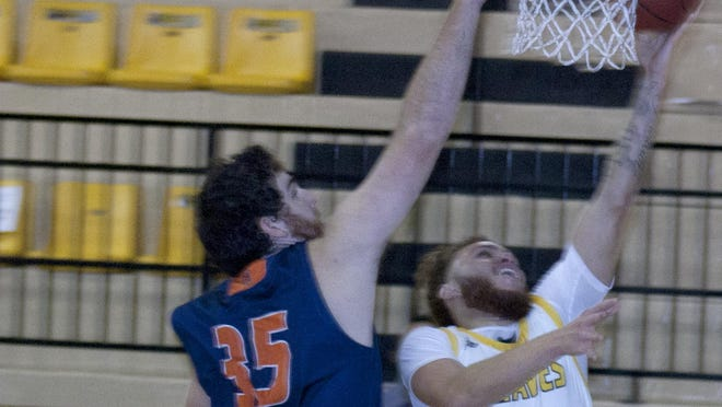 Ottawa University senior Perry Carroll has scored at 18 points in the past three games, including a career-best 27 Saturday against Bethel College. [PHOTO BY GREG MAST/THE OTTAWA HERALD].