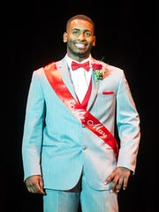 Jose Mateo is introduced during Mr. Vineland at Vineland High School on Thursday, January 11.