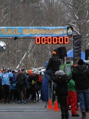 The Winter Night Trail Marathon in Eagle Creek Park.