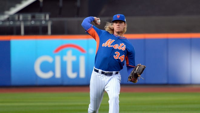In the playoffs, Noah Syndergaard threw 22 pitches at least 100 mph, according to Stats Inc.