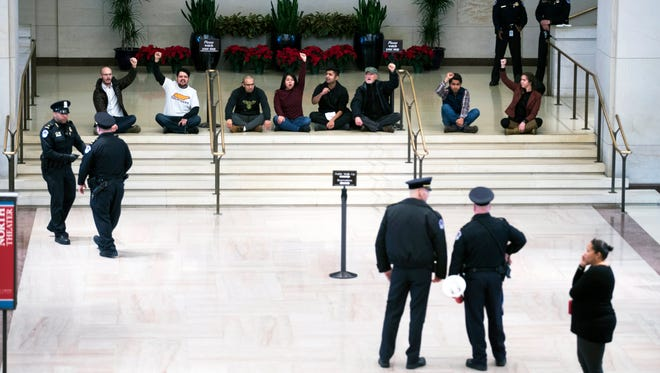 Colonial resident and DACA recipient Piash Ahmed was one of the protesters who sat in at the U.S. Capitol Visitors Center Emancipation Hall before being arrested in Washington, D.C. in December. They are pushing Congress to support a DACA fix.