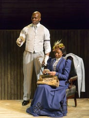 """Khris Davis (left) and Montego Glover in """"The Royale,"""""""
