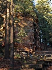 Visitors to Roche-A-Cri State Park can view ancient