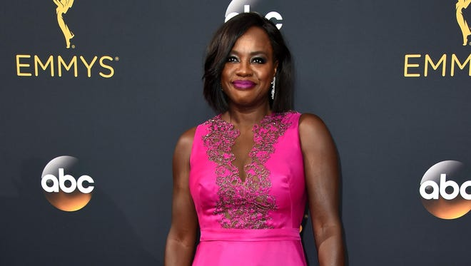 Viola Davis arrives at the 68th Primetime Emmy Awards on Sunday, Sept. 18, 2016, at the Microsoft Theater in Los Angeles.
