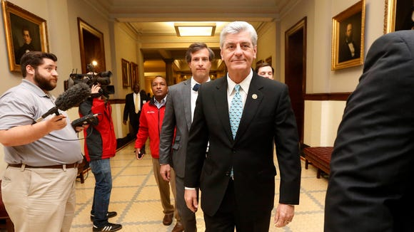 """Civil rights groups launch effort to get Republican Gov. Phil Bryant to repeal the states """"religious freedom'' law."""