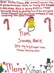 This is among the letters written to Santa that were