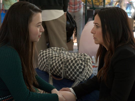 Sam (Pamela Adlon), right, talks to her daughter, Max (Mikey Madison), before she heads to college in Season 3 of FX's 'Better Things.'
