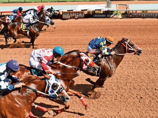 Streak Hitter is nominated to the 440-yard All American Gold Cup, Sept. 5, after a convincing win in the Grade 3, 50,000 Mr Jet Moore Handicap on Sunday at Ruidoso Downs.