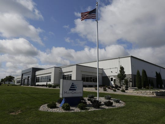 Multicircuits in Oshkosh hopes to benefit from Foxconn moving to Wisconsin. Multicircuits produces multi-layer circuit boards for industry in small and large batches. Joe Sienkiewicz/USA TODAY NETWORK-Wisconsin