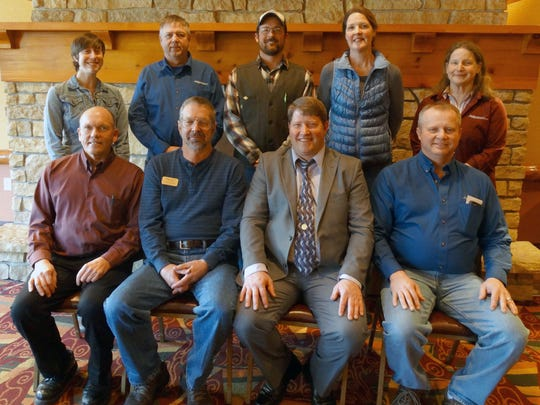 The 2018 Wisconsin Farmers Union Board of Directors includes, from left, (front row) Rick Adamski, Seymour; Mark Liebaert, South Range; Darin Von Ruden, Westby; Craig Myhre, Osseo; and (back row) Lauren Langworthy, Wheeler; Ed Gorell, Eleva; Chris Holman, Custer; Tina Hinchley, Cambridge; and Linda Ceylor, Catawba.