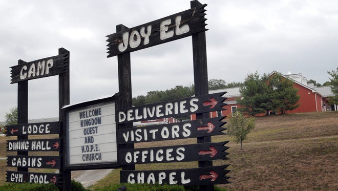 The entrance to Camp Joy El, 3741 Joy-El Drive, Greencastrle, is seen in this file photo from 2011.