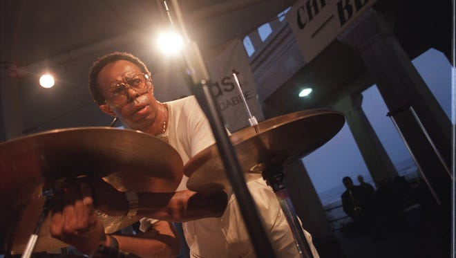 Detroit-born drummer Louis Hayes,pictured here in Atlantic City, NJ in 2002 , will co-lead a homecoming band at the Detroit Jazz Festival on Labor Day Weekend.