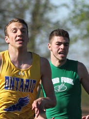 Ontario's Ethan Pendente and Clear Fork's Ian McDanel