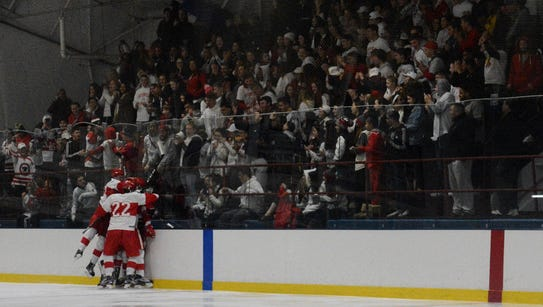 North Rockland celebrates Eric Dunn's second-period