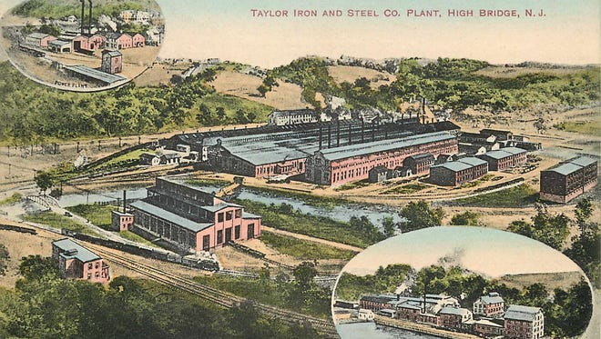 A turn-of-the-century postcard showing the campus of Custom Alloy, an inductee of the Hunterdon County Business Hall of Fame.
