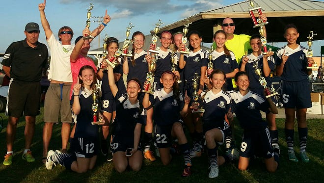 The Indialantic Youth Soccer Association under 13 girls competitive soccer team won the Florida Youth Soccer Association Region B championship last weekend.