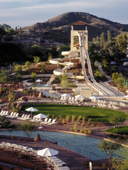 Slide Canyon Tower at Oasis Water Park is eight stories