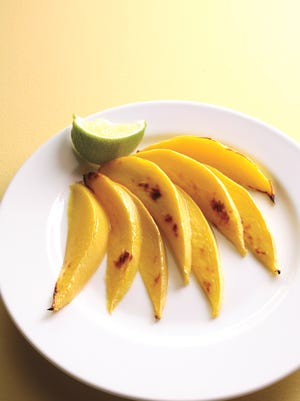 Broiled mango, a perfect addition to your Cinco de Mayo menu!