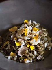 Pumpkin seed risotto offers a savory spin on autumn