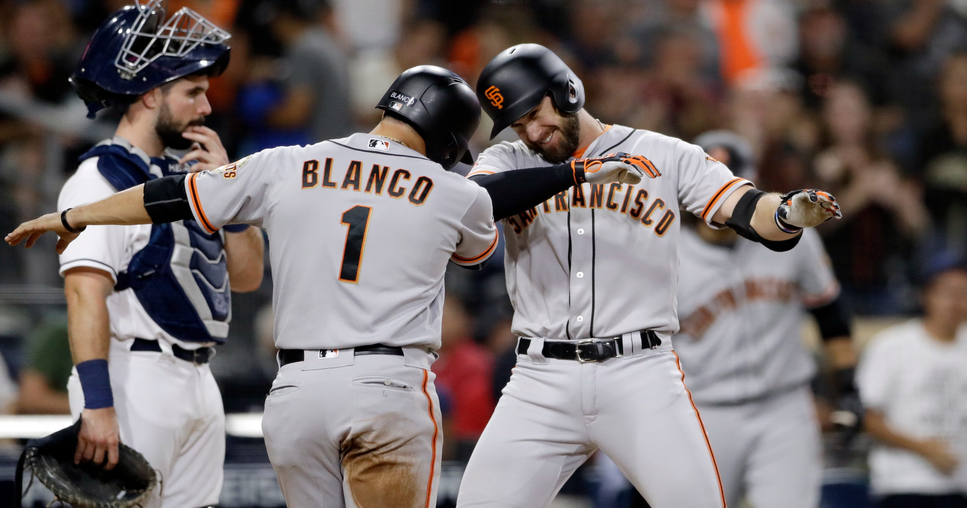 best sneakers c73f6 7ea56 Crawford, Longoria homer to carry Giants over Padres 4-2