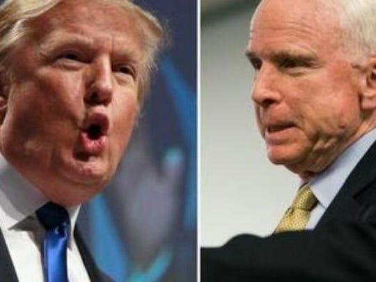 President Donald Trump and Sen. John McCain.