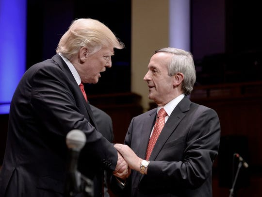 President Trump and Robert Jeffress