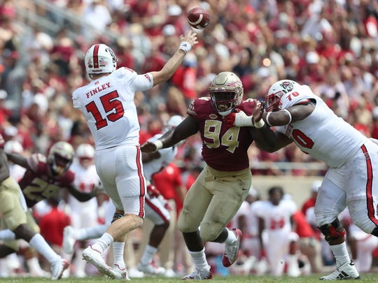 FSU's Walvenski Aime closes in on NC State quarterback
